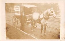 c.1910 Rppc Pacific Laundry Co. Delivery Wagon First & Arthur Sts. Portland Or