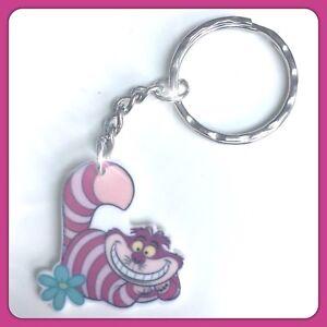 Disney Cheshire Cat Alice In Wonderland Theme Handmade Keyring Bag Charm #28