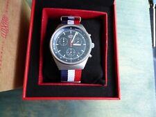 Duxot Consillio Matte Blue DX-2008-44 Mecha Quartz Chronograph w SS Brac RP $450