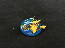 2006 TORINO OLYMPIC MEDIA PIN BADGE JAPANESE TV TOKYO PIKACHU ORIGINAL PINS
