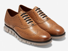 Cole Haan ZeroGrand Wingtip Oxford Shoes Burnished British Tan C30277 ALL SIZES