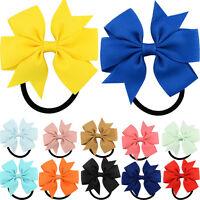 New Hot Fashion Cute Ribbon Bow Elastic Hair Bands Rope Hair Accessories Gift