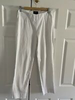 Oska Ropa Trousers Size UK 10 OSKA Size 1 White Cotton Stretch Summer