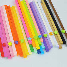80pcs 10 Candy Colors Origami Lucky Star Paper Strips Folding Paper Ribbons