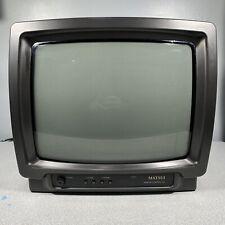 "Matsui CRT Cube TV Screen Retro Gaming Monitor 14"" 1476 Fully Working"