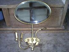 1908 Brasscrafters Brass Shaving Beveled Mirror Antique Bathroom Fixture/Salvage