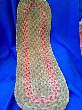 """8""""x 26"""" Oval Stair/Table Runner -RED,BLUEAND CREAM"""