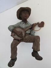 Sarah's Attic Harpster Black Americana Figurine Playing Banjo Shelf-Sitter, 1989