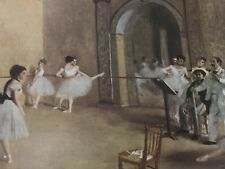 Rehearsal in the Foyer of Opera Ballet Vintage Print Degas 25206