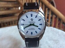 VINTAGE Tressa Men's Watch. Mechanical Winding ,white dial 17jewel, Swiss made