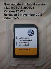 Genuine VW Discover Media Navigation AS Map UK Europe Sat Nav SD Card Latest V12