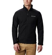 Columbia Mens Ascender Softshell Jacket Waterproof Windproof, Black, Large