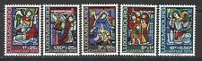 Luxembourg 1972 - Christmas - Stained Glass from Luxembourg Cathedral set Mnh