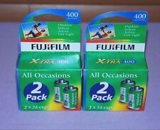 Lot of 4 Rolls Fujifilm Superia X-Tra Iso 400 24 Exposure 35mm Color Film - New