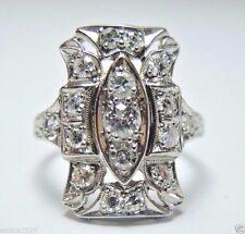 Antique Vintage Art Deco Diamond Engagement Ring Platinum EGL USA Ring Size 4.5