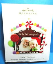 "Hallmark ""Sittin With Santa"" Photo Holder Ornament 2011"