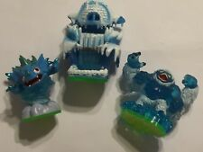 3 X Skylanders Spyros Adventure Figure Slam Bam + Warnado & caverna di ghiaccio livello extra