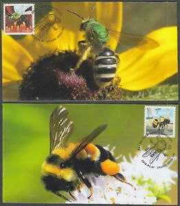 CANADA #3099-00.2 SHOWING BEES on SET OF 2 FIRST DAY COVERS