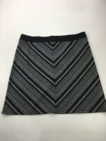BNWT WOMENS M&CO BLACK WHITE PATTERNED A LINE LIGHT WEIGHT SKIRT RRP £26 SIZE 16
