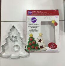Set 3 Tagliapasta metallo Albero di Natale con Decori Wilton spedizioni veloci