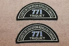 "Original Vintage Pair of Royal Canadian ""Cadets De L'Aviation Triquet"" Patch Set"