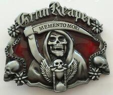 Belt Buckle 3D Memento Mori Scythe man Skull Reaper (G2)