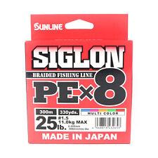 Sunline Siglon Braided Linea X8 300M P.E 1.5 25LB Multi Color (2653)