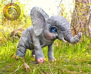 Woodsplitter Lee Cross Original Handmade Poseable Weighted Baby Elephant!