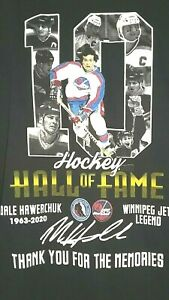 Dale Hawerchuk Winnipeg Jets Canada Hockey Hall of Fame Mens L Hoodie Shirt