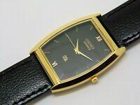 Seiko quartz gold plated japan made men wrist watch free ship