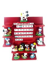The Danbury Mint Peanuts Snoopy Perpetual Calendar & 12 Figurines Complete