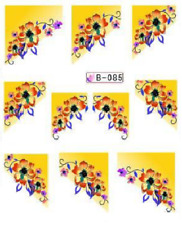 Nail Art Water Decals Stickers Transfers Yellow French Tip (B085)