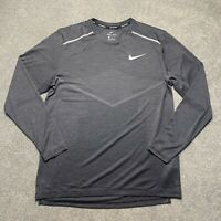 NIKE TECHKNIT RUNNING LONG SLEEVE GREY SIZE LARGE AJ7626 010
