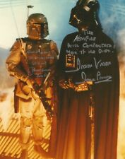 Boba Fett - Darth Vader Star Wars Prowse Bulloch hand signed photo  long Quotes