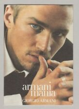 Carte  à parfumer - perfume card - Mania Giorgio  Armani  (recto verso)