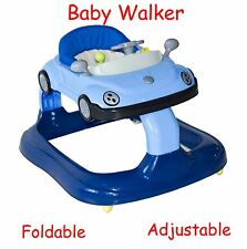Baby Walker Adjustable Foldable Musical Activity Centre Kids Ride On Toy Car