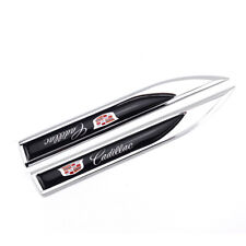 2X Cadillac Knife Side Badge Auto Car Body Fender Emblems for ATS CTS Escalade