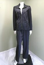 Vex Collection Women's Gray Pin Striped Pants Suit ~Size 42