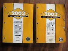 2003 GMC Chevrolet Truck Cadillac Hummer Transmission Transaxle Service Manual