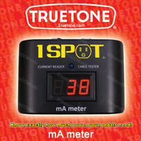 TRUETONE MAM 1-Spot Milliamp Power Meter Pedal Current Reader and Cable Tester