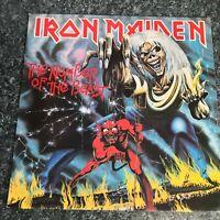 LP VINYL IRON MAIDEN The Number Of The Beast 1982 UK 1ST PRESS EMC 3400 EX/EX
