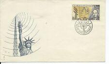 "CZECHOSLOVAKIA -CESKOSLOVENSKO Sc# 954 ENVELOPE CANC. 7/XII/1959 ""ARMSTRONG"""