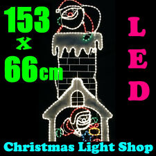 Santa Presents Flashing UP n DOWN Chimney LED Ropelight Outdoor Christmas Light