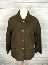 Women's Boden Leather Coat - UK16 - Brown - Great Condition