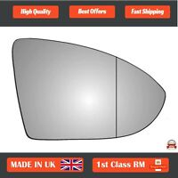 Right Driver Wide Angle Wing Mirror Glass for VW Golf 2012-2018 641RAS