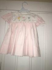 Vintage Jayne Copeland Pink Dress Sz 24m Embroidered Collar Flower Chick