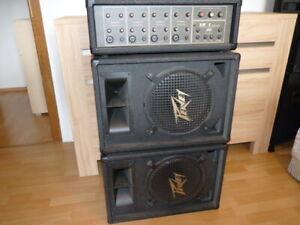 4 Kanal Gesangsanlage von Peavy, PA-Sytem, Echo,2 Boxen, 200 Watt