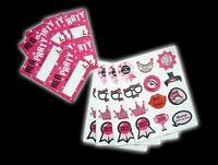 NEW Hen Party Sticker And Name Tag Pack Wedding Girls Night Out Bride to Be