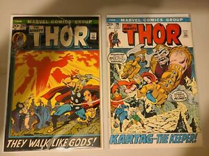 The Mighty Thor 196 and 204 Bronze Age VF/NM