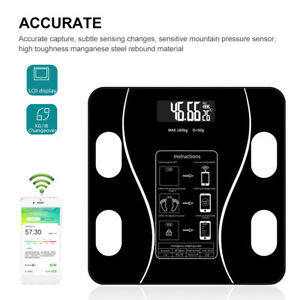 LCD Display Bathroom Scale Weight Fat Scales Body Fitness Bluetooth APP